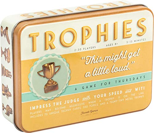 Trophies Card Game  Quick and Simple Word Party Game for 230 Players