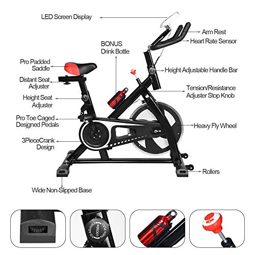 2020 NEW Shan_s Spinning Bicycle/Stationary Bike, Belt Drive Indoor Ultra-quiet Exercise Fitness Bicycle Equipment 2