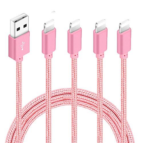 Nylon Braided Charging Cord Charger Compatible with PhoneX/8/8Plus 7/7 Plus/6s/6s Plus/6/6 Plus/5s/55se,Pad,Pod
