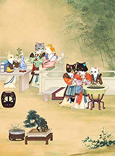 WXLSL Puzzles Rompecabezas Estilo Chino Cat Life Museum Niños Educativos Dibujos Animados...