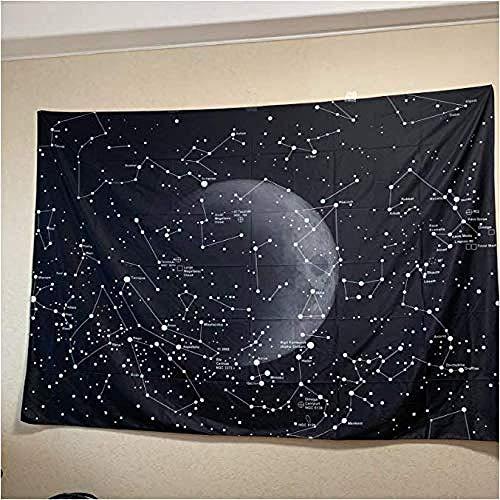 HUIQ decoración del hogar constelación Galaxia Espacio Tapiz Colgante de Pared Tela Ligera decoración de Pared hogar 200 * 150 Mm
