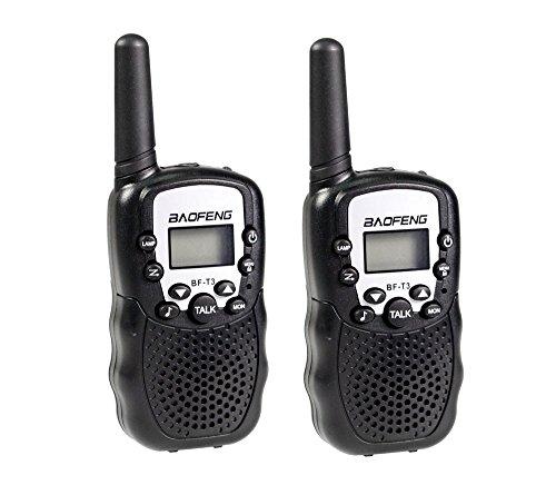 vetrineinrete Coppia di Ricetrasmittenti Portatile con Torcia 22 canali trasmittente Radio Display retroilluminato Walkie Talkie Radio trasmittenti (Nera) B19