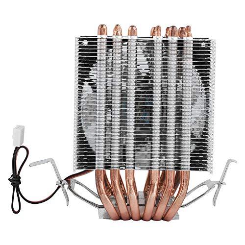 ASHATA Ventilador de enfriamiento para CPU, Fan CPU Cooler Disipador de Calor silencioso 6 Heatpipe para Intel Lag1156/1155/1150/775