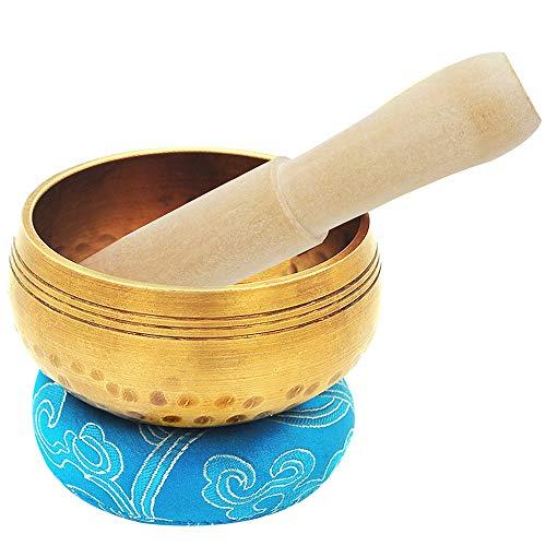 Innovahome Handmade 4.2 inches Tibetan Spiritual Healing Meditation Yoga Singing Brass Bowl Set ~ for Advanced Learner