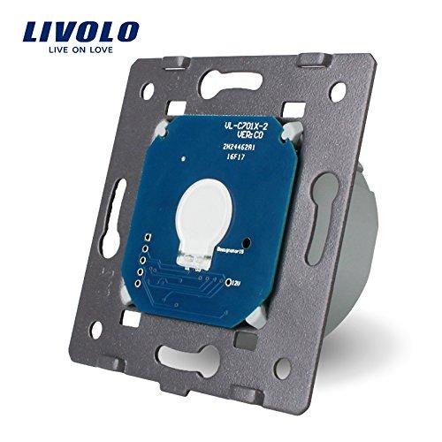 Livolo EU Standard die Basis von 1 Gang Lichtschalter mit LED-Anzeige,VL-C701-A