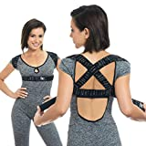 BackEmbrace Posture Corrector for Men and Women - USA Designed and Manufactured, Discreet Back Brace for Clavicle Support, Pain Relief From Tech Neck, Adjustable Back Straightener Posture Strap (XL)