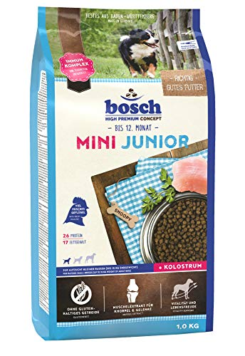 bosch HPC Mini Junior | Hundetrockenfutter zur Aufzucht kleiner Rassen, 1 x 1 kg