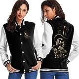 Dlovae Jacket Chaqueta Woman Black Berry Smoke Baseball Uniform