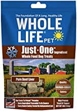 Whole Life Pet Healthy Dog Treats, Human-Grade Beef Liver, Protein Rich for Training, Picky Eaters, Digestion, Weight Control, Made in the USA, 4 Ounce