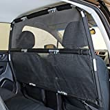 Bushwhacker - Deluxe Dog Barrier 50' Wide - Ideal for Smaller Cars, Trucks, and SUVs CUVs - Pet Restraint Car Backseat Divider Vehicle Gate Cargo Area Travel Trunk Mesh Net Screen Barricade