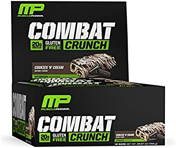 12-Count MusclePharm Combat Crunch Protein Bar