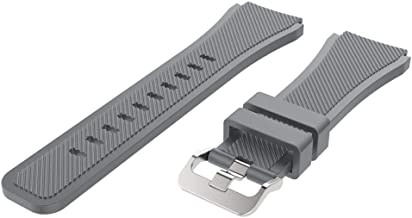 LEKODE Soft Silicone Watch Band Replacement for Samsung Galaxy Watch 46mm Band Strap Wristband(Gray,As described)