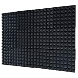 12 Pack Set Acoustic Foam Panels, Studio Wedge Tiles, 2' X 12' X 12' Acoustic Foam Sound Absorption...