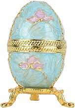 El huevo de Pascua organizador de la joyería esmaltó las cajas cobrables de la estatuilla del estilo del vintage para la decoración casera