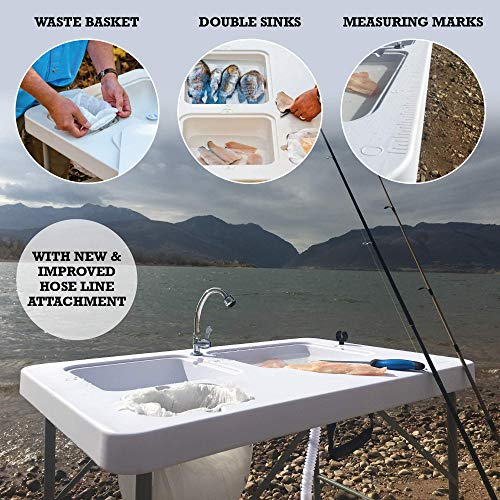 Product Image 1: Coldcreek Outfitters Outdoor Washing Table, Faucet and Sink, Portable and Foldable, Large Dual-Sink Design