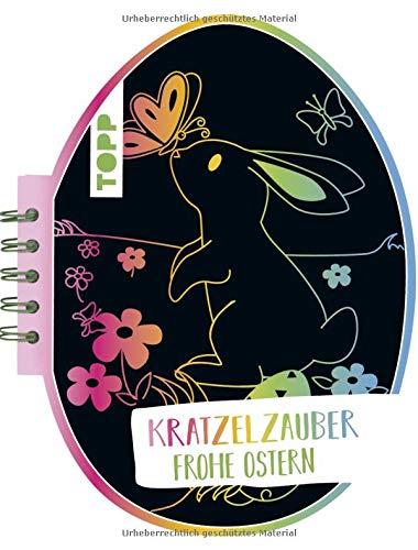 Kratzelzauber Ostern (Kratzelbuch in Ostereiform): Formgestanztes Kratzelbuch in Eierform. Mit Holz-Kratzstift, 20 Kratzelseiten, 20 Malanregungen und 40 Skizzenseiten.