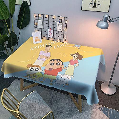 zeneca Mesa Tela Antimanchas,Adecuado para Cocinas Exteriores Interiores Mantel Mesa Rectangular Tipo i 130 * 180 / Adecuado para Alrededor de 80 * 120 Escritorio