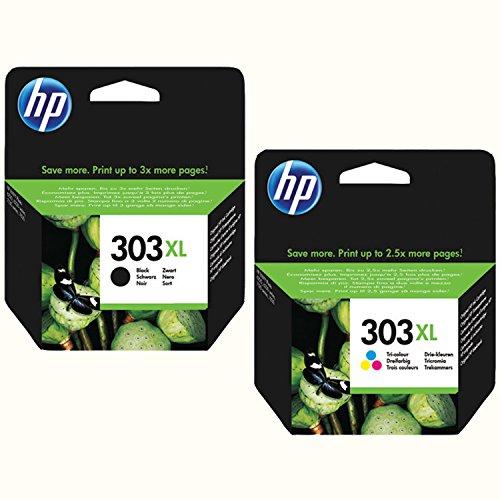 HP 303XL Originalpatronenset black + color XL-Füllung für HP Envy Photo 6230 7100 Series 7130 7134 7800 Series 7830 7834