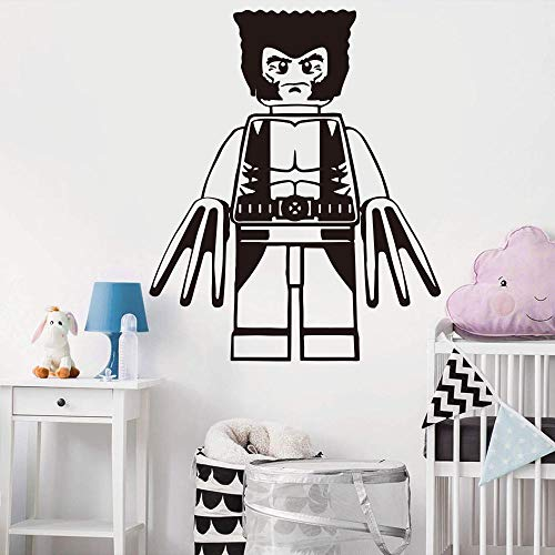 AUUUA Wandtattoos Cartoon Wolverine Wandtattoo Kinderzimmer Spielzimmer Superheld Wolverine Wandtattoo Schlafzimmer Baby Kinderzimmer Vinyl Home Decor