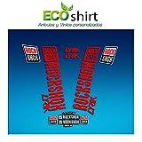 Ecoshirt J0-JXO1-13YP Pegatinas Stickers Fork Rock Shox Lyrik 2018 Am176 Aufkleber Decals Autocollants Adesivi Forcela, Rojo