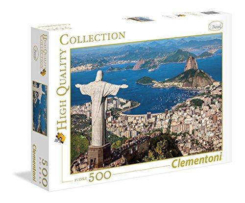 Clementoni- Collection: Rio De Janeiro Los Pingüinos De Madagascar Puzzle, 500 Piezas, Multicolor (35032)