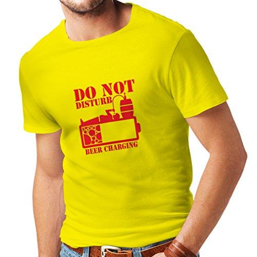 lepni.me Camisetas Hombre Carga de Cerveza, Refranes Divertidos para Beber, Regalos para cervecero (Large Amarillo Rojo)