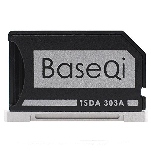 BASEQI Aluminum microSD Adapter for MacBook Pro Retina 13'