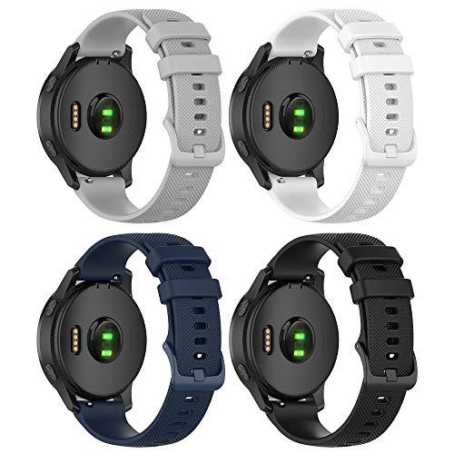 TUSITA Quick Release Watch Band 22mm Replacement for Garmin Vivoactive 4, Darth Vader, First Avenger, Venu 2, Polar Vantage M - Silicone Quick Release Strap Bracelet Wristband -Smartwatch Accessories