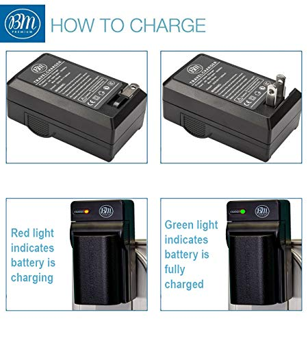BM 2 Pack LP-E6N Batteries and Charger for Canon EOS R, EOS 90D, EOS 60D, EOS 70D, EOS 80D, EOS 5D II, EOS 5D III, EOS 5D IV, EOS 5Ds, EOS 6D, EOS 6D Mark II, EOS 7D, EOS 7D Mark II, XC10, XC15 Camera