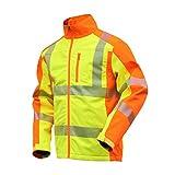 NEU! ELDEE YO-HiViz Softshelljacke, moderne Warnschutzjacke, gelb/orange mit Reflexsteifen, Gr. S -...