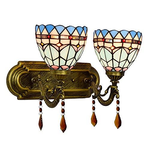 TPLIK Vintage Wall Sconence Tiffany Lámparas Luces de Pared Lámpara de Lectura para la Cama para Dormitorio Salón de la Sala de la Sala de la Sala de la Noche Luz de Noche
