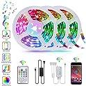 Tatufy 50Ft/15m Music Sync Color Changing Smart LED Lights