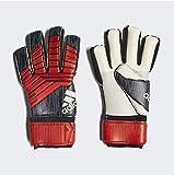 adidas Predator League–Guantes de Portero, Todo el año, Unisex Adulto, Color Negro, Rojo y Blanco, tamaño 12