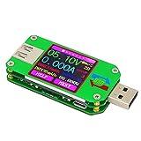 KKHMF 電圧電流テスター USB 2.0 カラーLCDディスプレイテスター 電圧計 電流計 マルチマーター バッテリー 充電器 ケーブル インピーダンス測定 容量テスター (非ブルートゥース通信バージョン) Android APPで制御できる