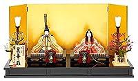 雛人形 真多呂 ひな人形 雛 木目込人形飾り 平飾り 親王飾り 真多呂作 本金 麗華雛セット 正絹 伝統的工芸品 h033-mt-1881