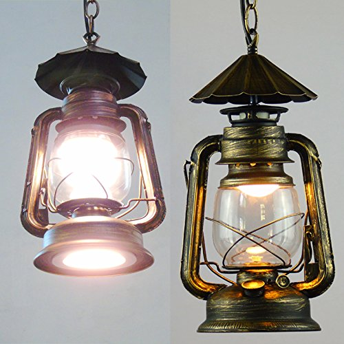Motivtecch Retro-lantaarn, kerosoenlamp, enkele kop, creatieve boerderij van ijzer, café antiek, Chinese lamp