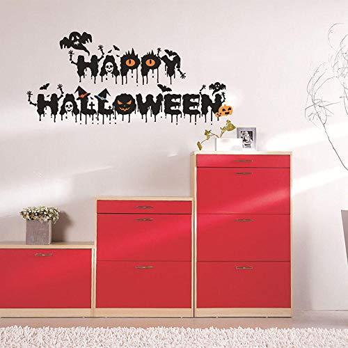 LyrdreamHappy Halloween Home FamilienzimmerWandaufkleberWandbild Dekor Dekor Halloween Dekoration Horror House Yard 94Cmx48Cm