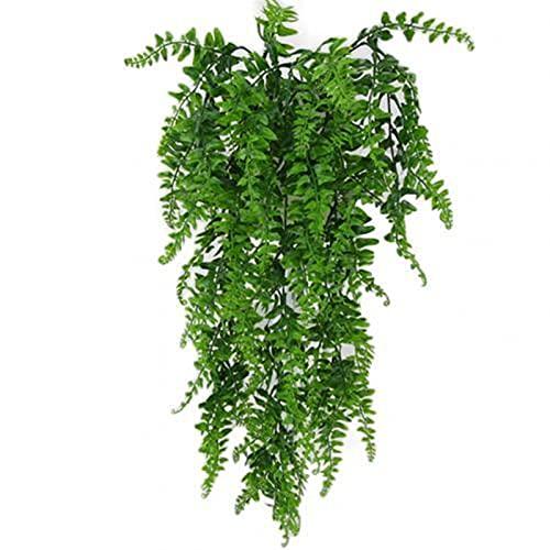 LJGFH Künstliche Pflanze Lebendige künstliche grüne Pflanze Hause Garten Dekoration Wand hängen gefälschte rubvines Geschenk dauerhaft (Color : Green)