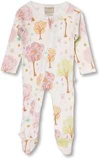 Babyushka Pink Tree Organic Long Sleeve Zip Romper, Newborn (0000)
