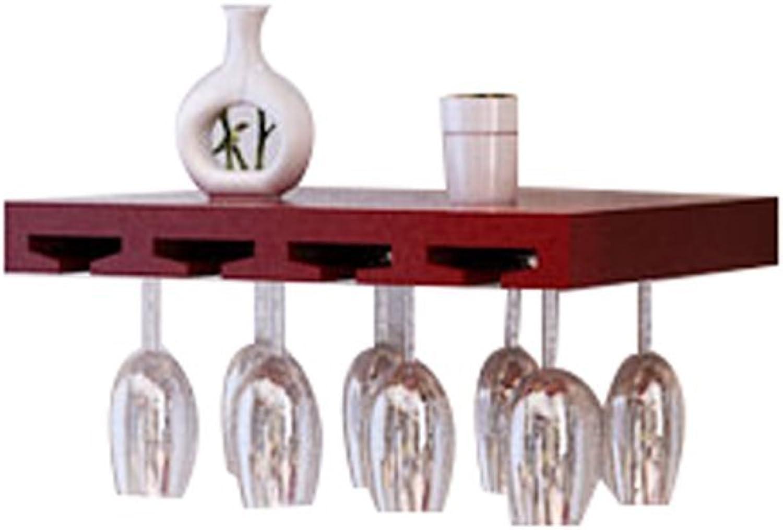 ahorra hasta un 70% DH Wine Rack Rack Rack Wine Glass Holder Estante De Parojo De Madera Maciza Europea Living Room Kitchen (Color   Burgundy, Tamaño   50 cm)  vendiendo bien en todo el mundo