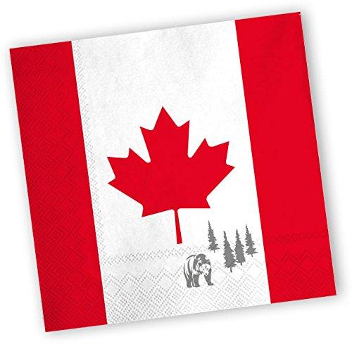 20 Servietten * KANADA * für Party & Geburtstag von DH-Konzept // Party Fete Set Napkins Papierservietten Canada Ahorn