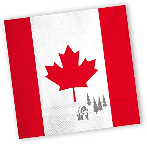 20 Servietten * KANADA * für Party und Geburtstag von DH-Konzept // Party Fete Set Napkins Papierservietten Canada Ahorn