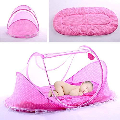 Tienda de Dormir de Viaje para Beb/é Reci/én Nacido Plegable Netiing Cuna C/ómoda Transpirable Amarillo 3pcs//set Tienda de Mosquitos Infantil Port/átil