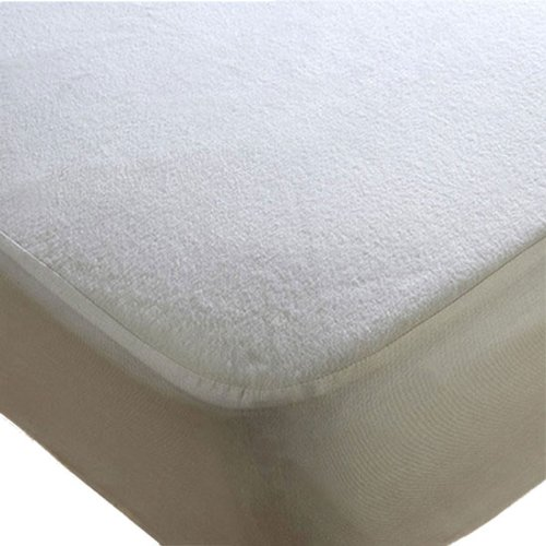 Home Sweet Home White Terry Towel Water Resistant Mattress Fitted Protection Double