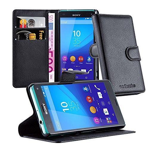 Cadorabo Funda Libro para Sony Xperia Z3 Compact en Negro Fantasma - Cubierta Proteccíon con Cierre Magnético, Tarjetero y Función de Suporte - Etui Case Cover Carcasa