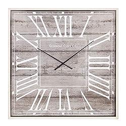 40 Rustic Light Woodgrain Square Wall Clock