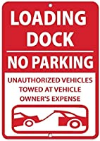 素晴らしいティンサインアルミニウム、積み込みドック駐車禁止無許可車両牽引ヴィンテージルックサインホームハウスコーヒービールドリンクバーの装飾
