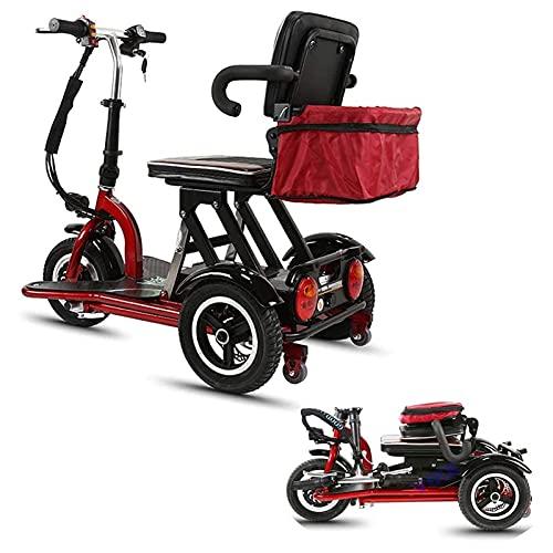 GYYSDY Triciclo Eléctrico Viejo Scooter Plegable Coche Eléctrico Adulto con Discapacitados Coche 300w Motor Potencia Cuerpo Peso-3 Cambio De Engranaje - Adecuado para Todo Terreno