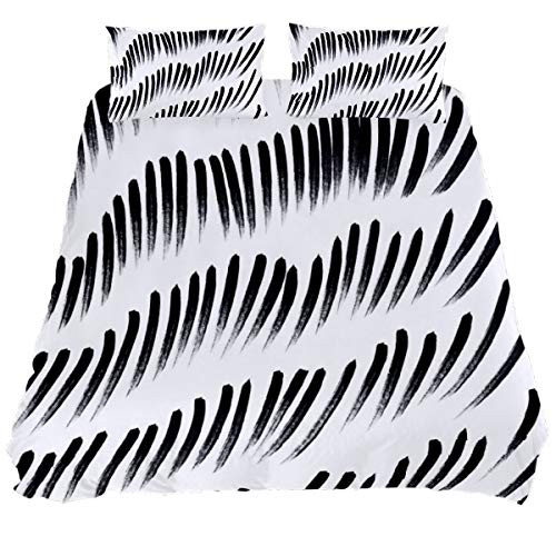 Audrey Brown Quilt Covers Bed Duvet Covers Mattress Protector Size Winter Duvet Cover Duvet Cover Soft Allergenic Waterproof Duvet Black and white printing King