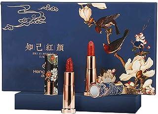 6 Kleuren Matte Lipstick-sets Make-up Cosmetische Kit Met Carving Reliefs Design Langdurig Satijn Voedt Hydraterend Voor M...